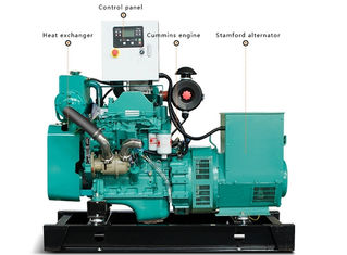 Porcellana 12kw Cummins Genset diesel marino con 4bt3.9 il motore diesel ISO9001 compiacente fornitore