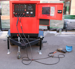 Miller 500Amp Arc Welding Machine Genset Diesel Generator with cart , 30m welding leads